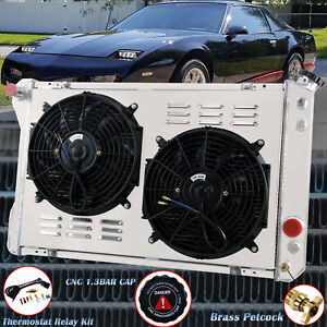 3 Row Aluminum Radiator Shroud Fan For 1982 1992 Chevy Camaro Iroc z Z28 V8