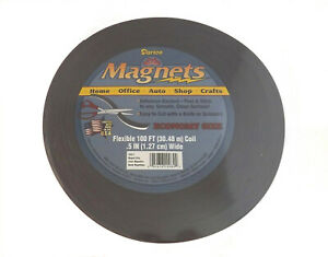 Lot Of 3 100 Ft X 1 2 Self Adhesive Rolls Flexible Magnetic Strip Tape