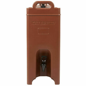5 Gallon Insulated Coffee Tea Hot Cold Catering Beverage Drink Dispenser Brown