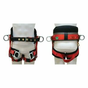 New Buckingham 1339 Wide Back Lightweight Saddle Tree Pole Climbing Harness Xl