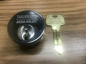 Sargent Lock Cylinder signature Series High Security Mortise New Chrome Rc Keywa