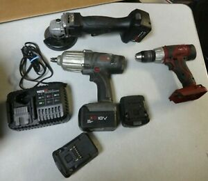 Matco Tool Lot Mcl1812dd Drill Grinder Mcl181wvs 1 2 Impact Mclchrg Charger