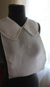 Antique Linen Service Or Maid Dickey Dicky Collar Cutter Crafts Dolls Costume