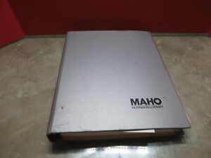 87 Maho Mh600e Cnc Vertical Mill Manual Operator s Guide D 8962 Pfronten