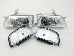 Headlights Corner Fit For Toyota Corolla Ae92 Fx Gt E90 Ee90 Sedan 89 92 Wh Gm