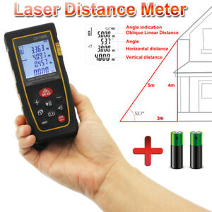 High Accuracy 100m Digital Lcd Laser Distance Meter Range Finder Measure Us Ship