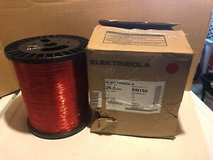 Elektrisola 26 Awg Pn155 Polysol Red 39 70lbs Magnetic Wire Open Box