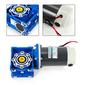 Dc 24v 300w High Torque Electric Power Speed Reducer Turbine Worm Gear Box Motor