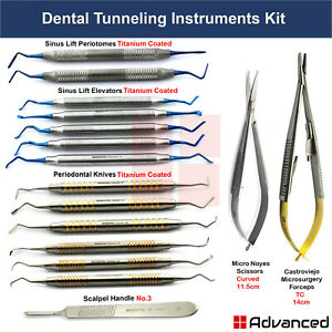 Premium Implant Tunneling Procedure Kit Periodontal Gum Grafting Tissue Surgery
