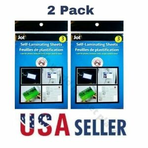 Easy Self Laminating Sheets 4x6 No Tools Needed Free Ship For Id Card 3 Pack