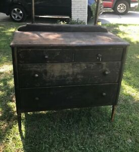 Vintage Industrial Dresser As Is