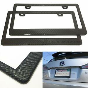 Cool Pair 100 Carbon Fiber License Plate Frame Tag Cover 3kpattern Twill Jdm ff