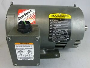 1hp Baldor Cm3116t Electric Motor 1725rpm 3ph 143tc Frame
