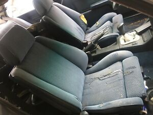Matched Pair Of Bmw E30 Cloth Coupe Recaro Sport Style Vintage