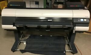 Canon Imageprograf Ipf 8000 Wide Format Printer K90067 With 7 New Ink Cartridges