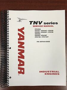 Yanmar Tnv Series Diesel 3 Cylinder Service shop Manual New
