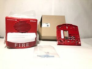 Simplex 49av wrf Red Wall Addressable Strobe Fire Alarm Bnib Free Shipping