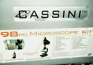 98 Pc Microscope Kit By Cassini Nwot