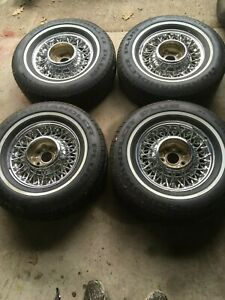 Thunderbird Vintage Wire Wheels 14x6 With Mounted Goodyear Whitewall Tires
