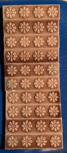 10 Pcs Old Bridge Antique Ceramic Art Tiles C 1900 Flowers 1 1 2 X 6 Salvage