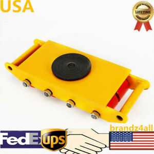 Heavy Duty Machine Dolly Skate Roller Machinery Mover 360 Yellow 12t 26400lb Us