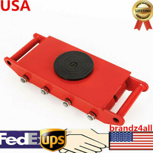 Heavy Duty Machine Dolly Skate Roller Machinery Mover 360 Red 12t 26400lb Usa