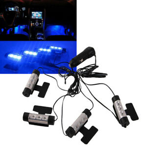 Car Suv Led Interior Atmosphere Under Dash Floor Footwell Led Light Strip Blue