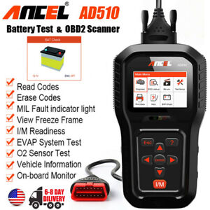 Ancel Ad510 Obd2 Fault Car Code Reader Scanner Auto Engine Check Diagostic Tool