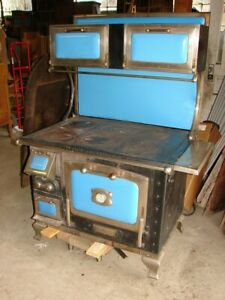 Rare Antique Robin Egg Blue Majestic Coal Wood Kitchen Cook Stove St Louis