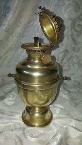 Antique Perko Ship Lantern Gimble With The Miller Co Oil Lamp Burner Solid Brass