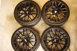 22 Porsche Cayenne Wheels And Tires Gloss Black Set Of 4 5x130 Lugs