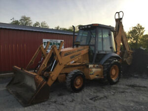 1999 Case 580sl Series 2 4x4 Tractor Loader Backhoe Cab Extend a hoe One Owner
