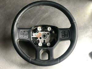 13 14 15 16 17 Dodge Ram Steering Wheel Black Leather W Controls W o Heat Oem