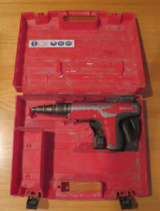 Hilti R3500 Powder Actuated Nail Gun Ramset Plus Case