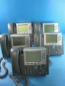 Lot Of 5 Cisco Display Ip Voip Phones 1 Cp 7962 And 4 Cp 7960 Used