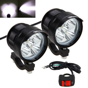 2x 50w Led Motorcycle Spot Work Light Offroad Driving Fog Lamp Lights W Switch