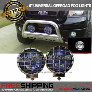 Fit Special Price Offer 6 In 4x4 Blue Off Road Fog Light 55w H3 Pair