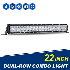 22inch Amber White Combo Led Work Light Bar Flood Spot Offroad Suv 4wd Pk 20 32