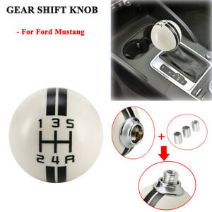 Possbay 5 Speed Cover Gear Shift Knob For Ford Mustang Shelby Gt 500 Cobra