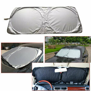 Foldable Auto Car Suv Sun Shade Visor Block Front Windshield Snow Cover