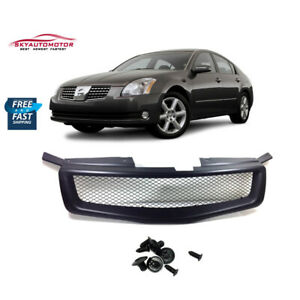 Fit 04 06 Nissan Maxima Front Bumper Upper Black Abs Grill Mesh Style