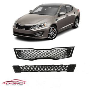 Fit Kia Optima 2011 2012 2013 Sx sxl Front Upper And Lower Grille 2pcs