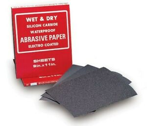 Mercer Abrasives 9 X 11 Waterproof Paper Silicone Carbide 1500c Grit 50 Sheets