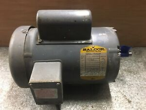 Baldor 1 5 Hp Ac Electric Motor 56 Frame 3450 Rpm Single Phase Tefc