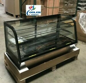 New 48 Refrigerator Bakery Case Curved Glass Display nsf Restaurant show Case