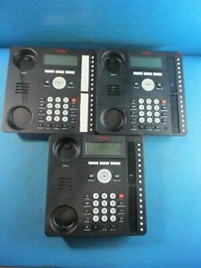 Lot Of 3 Avaya Ip 1616 1 Digital Display Home Office Business Phone Base Only