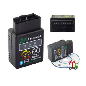 For Android Pc Hhobd Elm327 Bluetooth Obdii Car Auto Diagnostic Scanner Tool