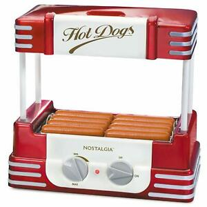 Electric Hot Dog Cooker Roller Grill W Bun Storage Sausage Rolling Link Mach