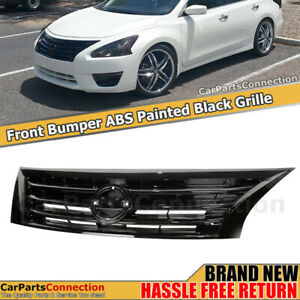 Front Grille Glossy Black For Nissan Altima Sedan 2013 2015 Upper Grill Assembly