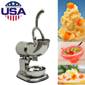 Commercial Ice Shaver Machine Snow Cone Maker Shaved Icee Electric Crusher Usa